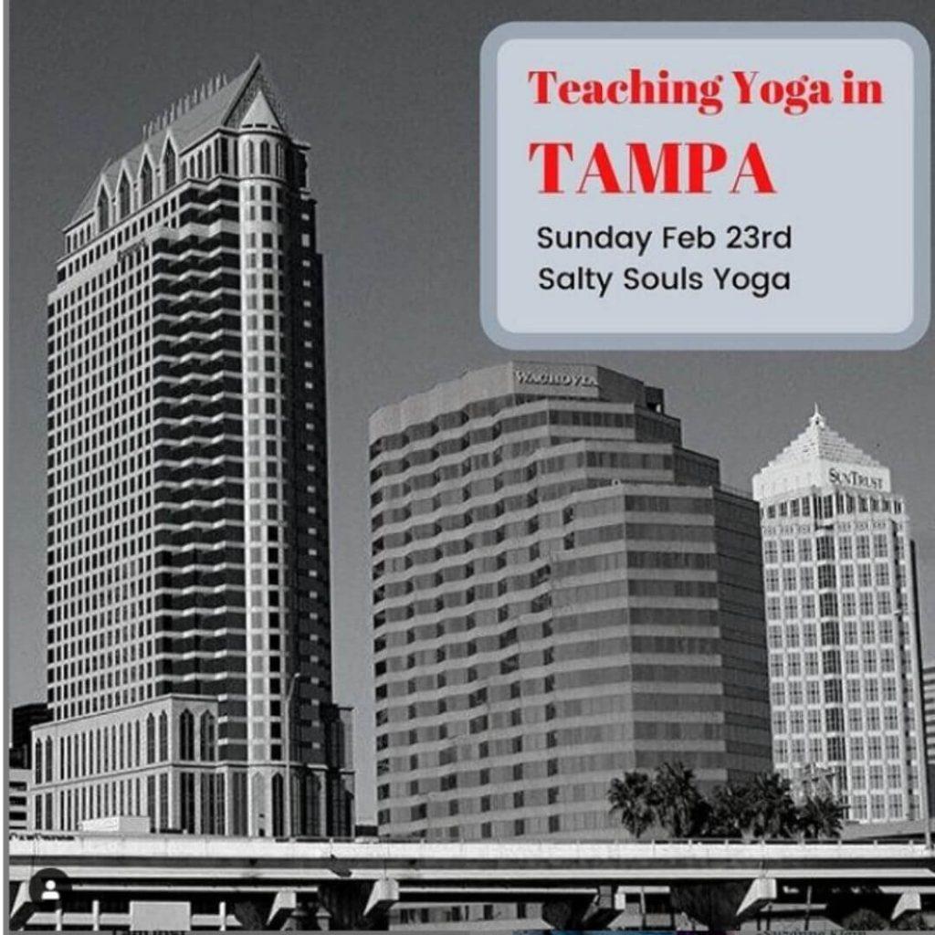 Teaching yoga in Tampa